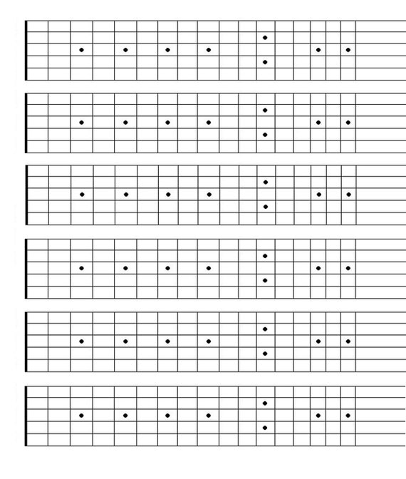 photo about Printable Guitar Fretboard Chart identified as Printable Blank Guitar Fretboard, Guitar Neck Chart, Fast Obtain, songwriting software, Studying Guitar