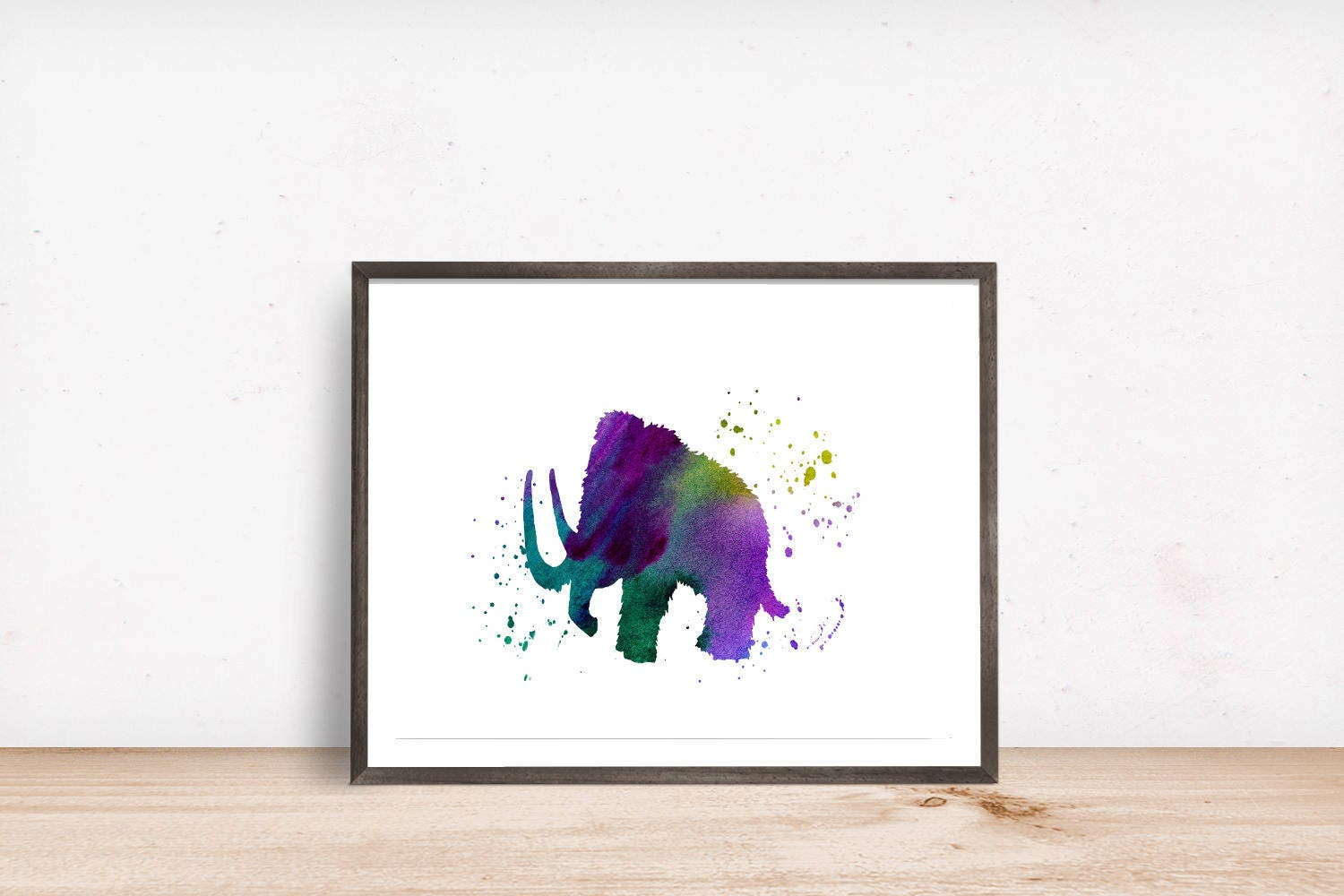 Woolly Mammoth Printable Art Ice Age Print Instant Download | Etsy