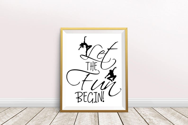 Let The Fun Begin Inspirational Printable Typography Quotes Etsy