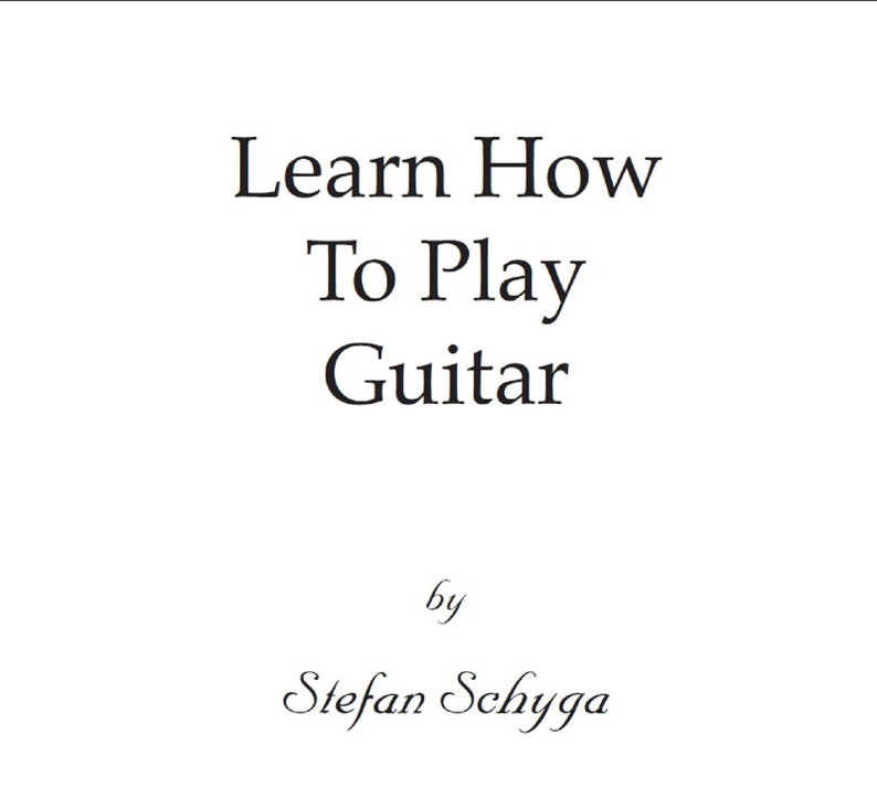 Beginner Guitar E-Book Master Resell Rights Learning Guitar image 0