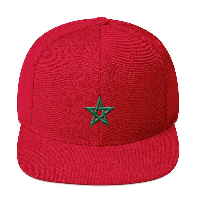 da3e4b3886c Moroccan Flag Snapback Hat Moorish American Moors Morocco