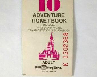 1978 Walt Disney World Magic Kingdom Club Adventure Ticket Book Stub