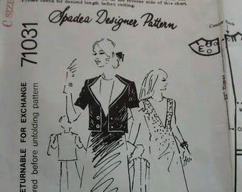 Spadea Designer Pattern Eguzquiza A-line Dress & Jacket Pattern, 1970s, Size 14
