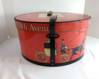 aab39b258d4 Dobbs Fifth Avenue New York Red Hat Box Only
