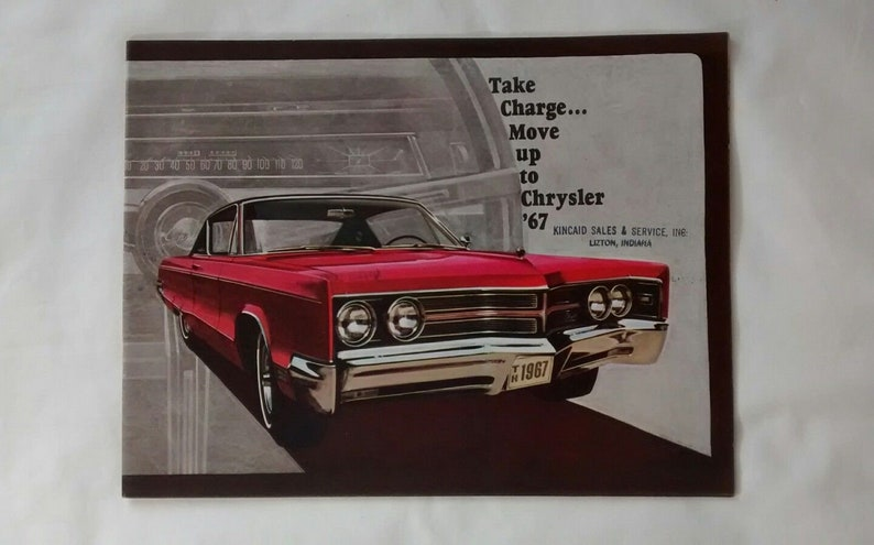 Vintage 1967 Chrysler New Yorker Town & Country 300 Newport Brochure,  Dealer, Advertising, Car, Auto, Sales