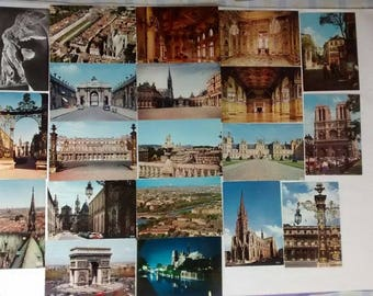 Vintage French Postcards Lot, France, Louvre, Strasbourg, Paris, Versailles, Souvenir