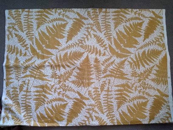 Knollwood Cyrus Clark Everglaze Fern Pattern Chintz Fabric Vintage 16.5 Yards