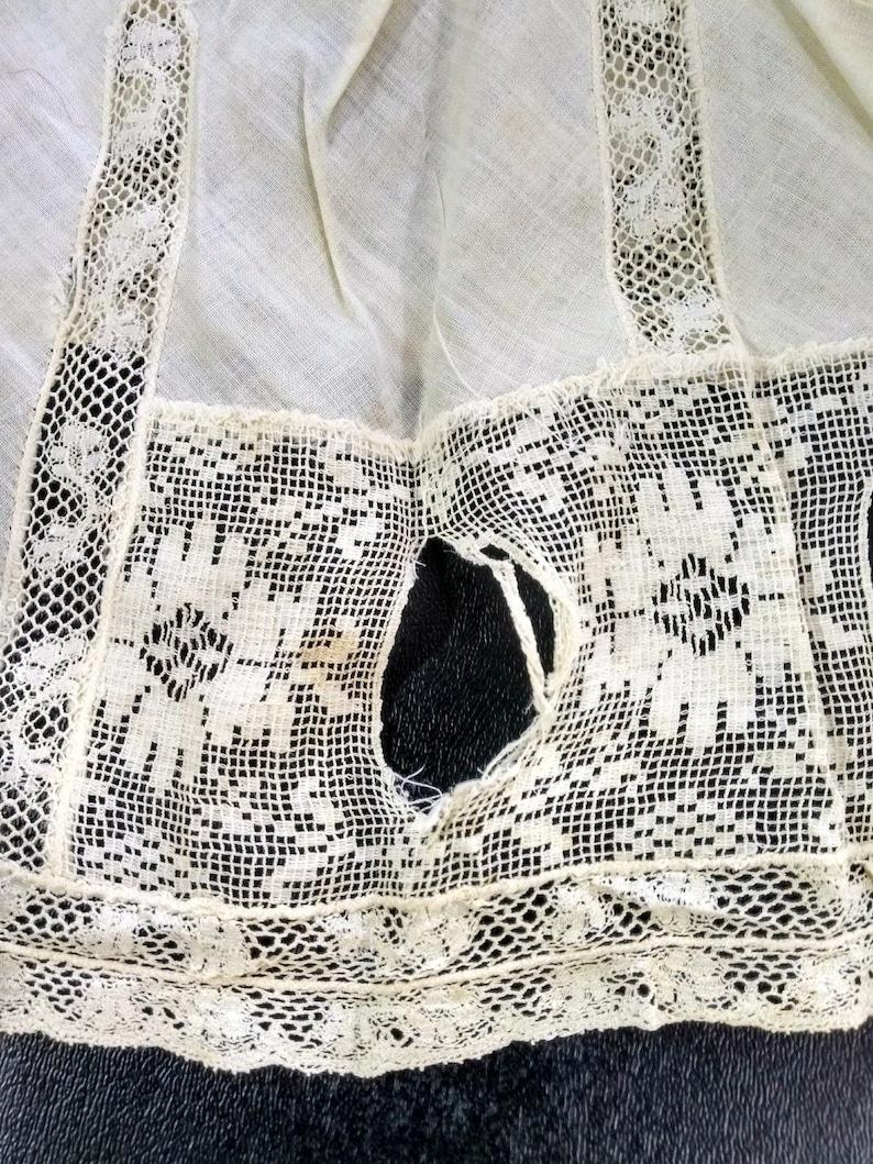 Slip Vintage Antique Filet Lace Handmade Baby Girl Petticoat Cotton