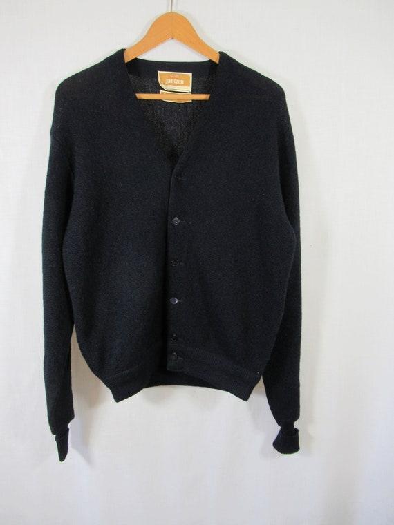 1960s Jantzen Men's Wool Cardigan Sweater, Grandpa
