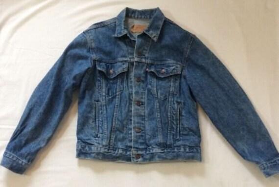 Levi S Vintage Denim Jean Jacket Men S Size 40r Red Etsy