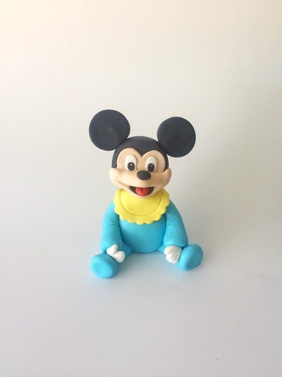 Baby Mickey Mouse Fondant Cake Topper 1st Birthday Mickey