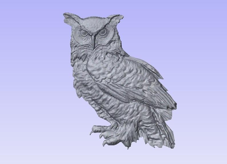 Owl STL file for CNC