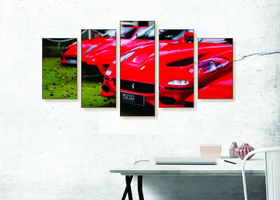 Ferrari Row Canvas Set Car Canvas Set Car Wall Decor Car | Etsy