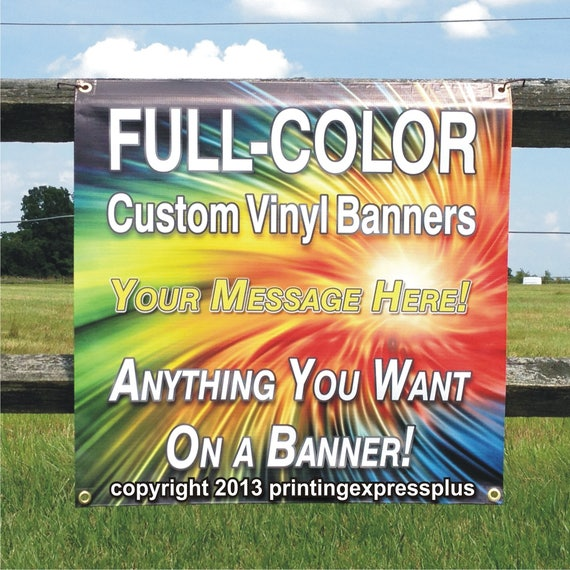 Banner printing 2/' x 4/' Free custom design