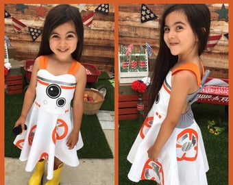 Girl's BB8 Inspired Dress Star Wars