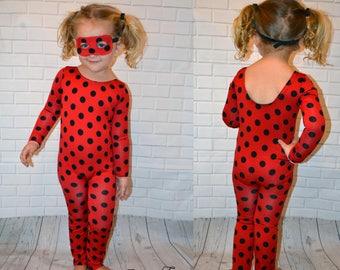 Miraculous Ladybug Inspired Bodysuit with Mask