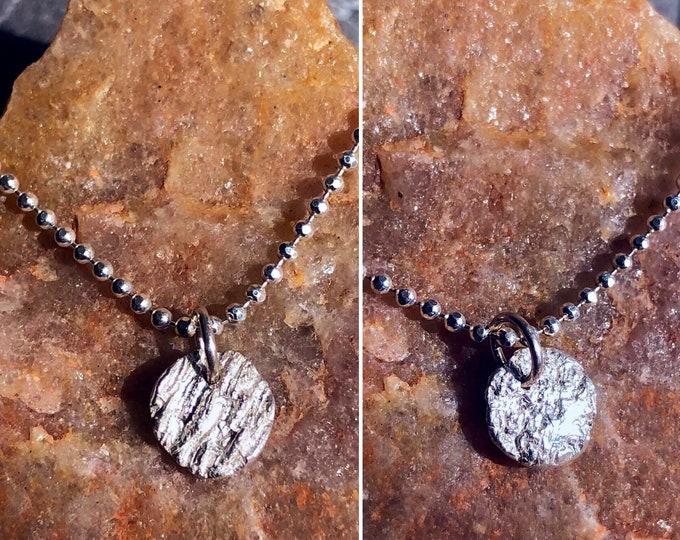 sooooo teeny tiny oak bark pendant