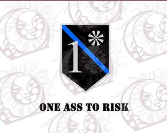 1 Ass To Risk Logo Elements- SVG, EPS, PNG Cutting and Design Files, Instant Download
