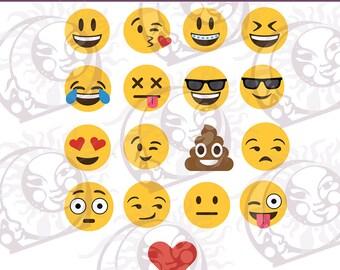 Emoji SVG Bundle | Emoji SVG | Emoji SVG Pack Cut File | Emoji Clipart | Files for Cricut Silhouette Emoji