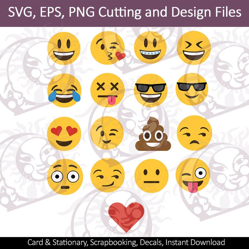 Emoji SVG Bundle   Emoji SVG   Emoji SVG Pack Cut File   Emoji Clipart    Files for Cricut Silhouette Emoji