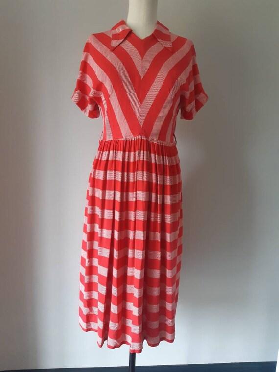 1940's cotton day dress