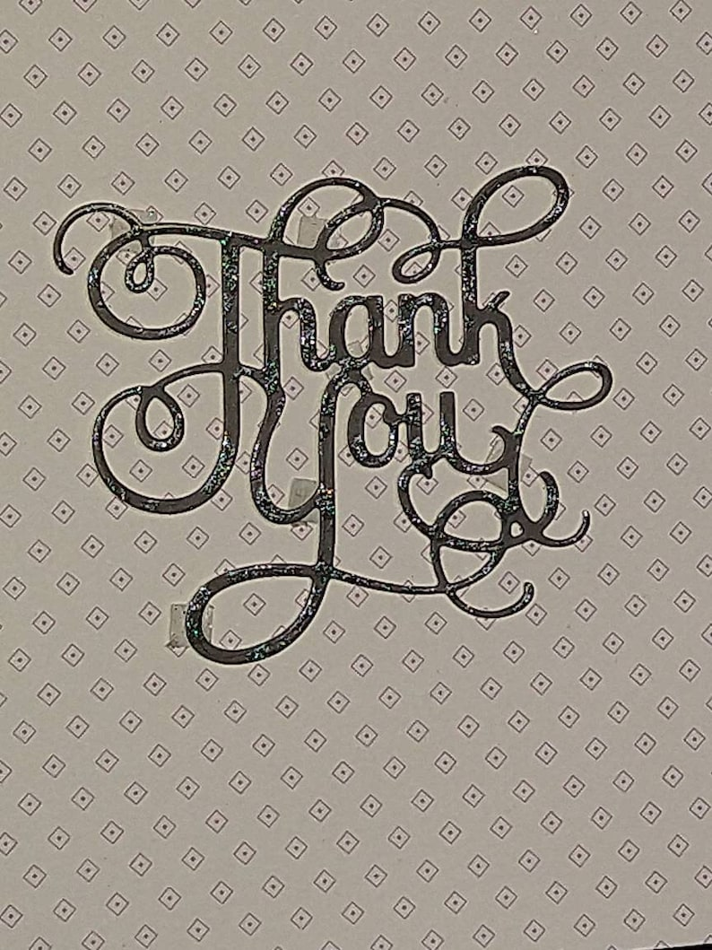 Thank You card This card would be ideal; to say thank you for any occasion. A handcrafted and hand decorated