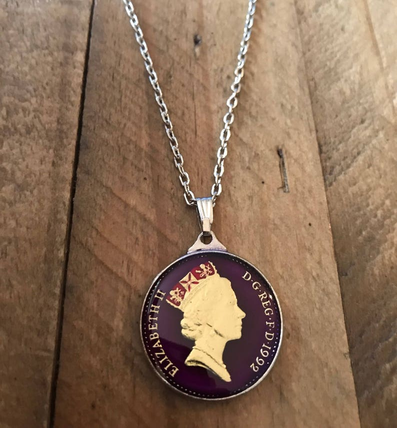 27th Birthday Gift for daughter niece 1992 Enamel Coin Necklace Wedding Gift for Bride 27th Wedding Anniversary Present for wife mom