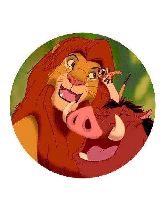 Simba and Pumba cake and cupcake toppers Lion king Edible  352d1e1b1