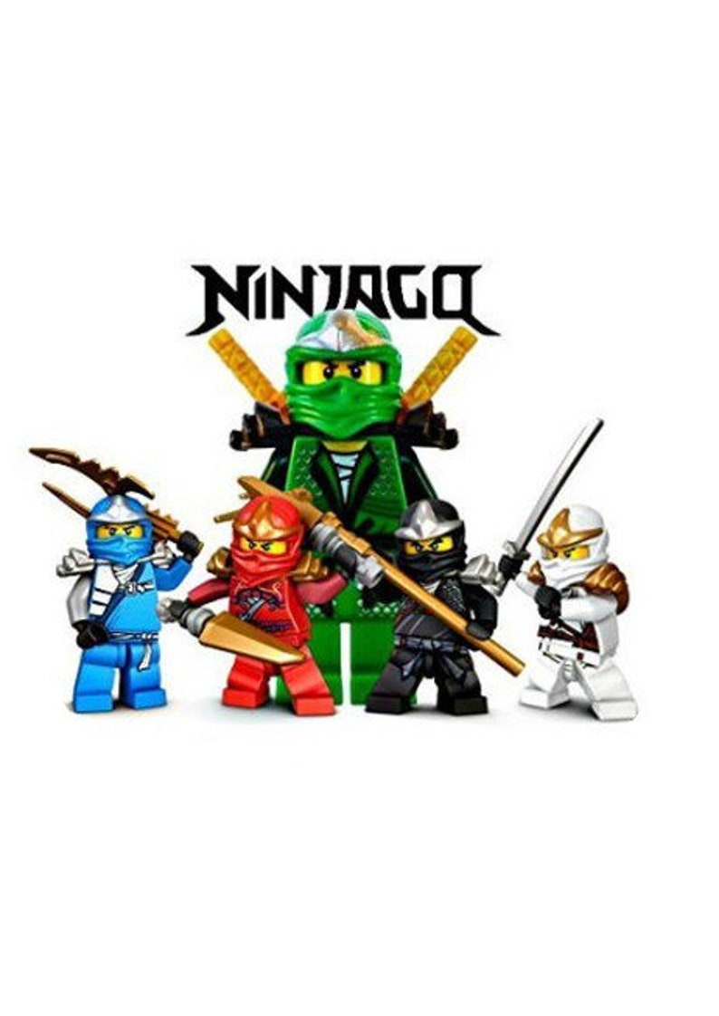 Lego Ninjago Birthday Cake And Cupcake Toppers Celebration Children Decorating Up To A3