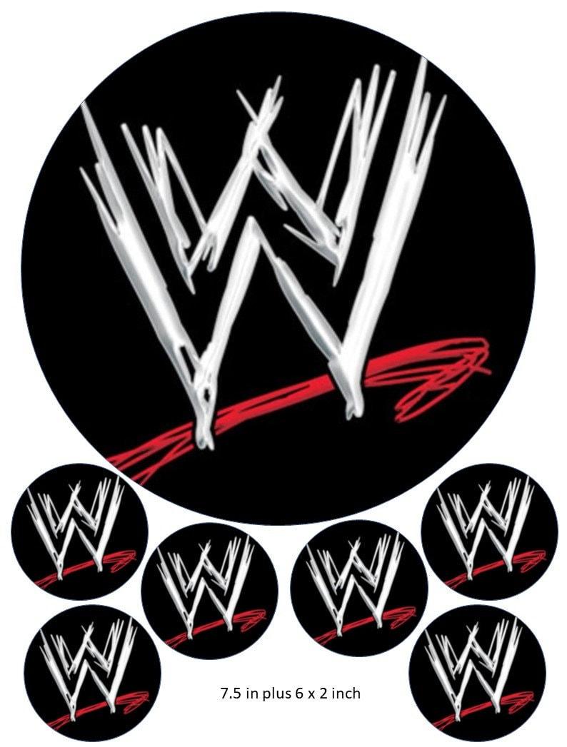 Marvelous Wrestling Cake And Cupcake Topper Wwe John Cena Birthday Etsy Personalised Birthday Cards Veneteletsinfo