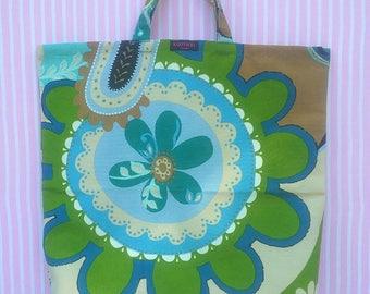 Handmade cotton/mix fabric shopping bag