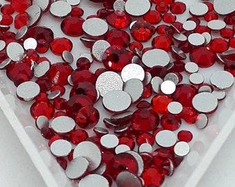 Scarlet Red Crystals - Glass - Gems