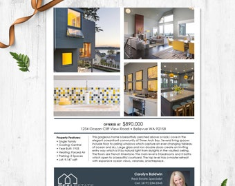 Real Estate Flyer Etsy - Microsoft office real estate flyer templates