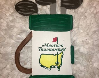 Hand-painted Wooden Golf Bag