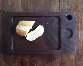 Handmade black walnut serving board, bread board, cutting board, wooden serving board, walnut