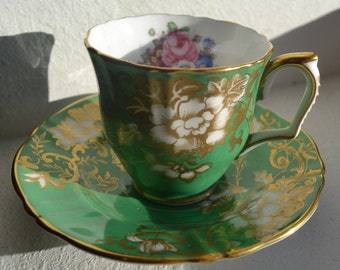 Gorgeous Crown Staffordshire Fine Bone China Teacup and Saucer