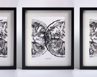 Poster-s lemon black - left to assemble together right - Diptych, triptych