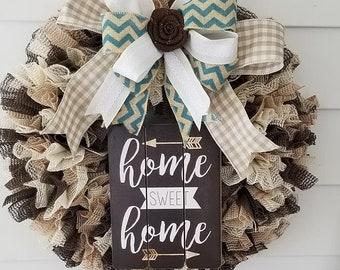 Home Sweet Home ... Hanmade Wreath...OOAK!!!