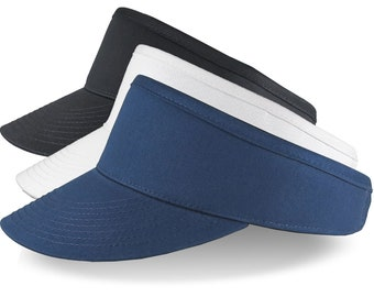 Large Size Head Custom Embroidery on an Oversize Adjustable Structured Full Fit High Profile High Crown Fashion Sun Visor Cap