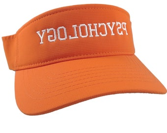 Reversed Psychology Parenting Training Humorous White Embroidery on an Adjustable Sporty Stylish Orange Visor Summer Hat