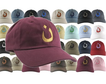Custom Nazarene Christian Spiritual Religious Symbol Your Color Embroidery Your Selection Adjustable Unstructured Baseball Cap Dad Hat Style