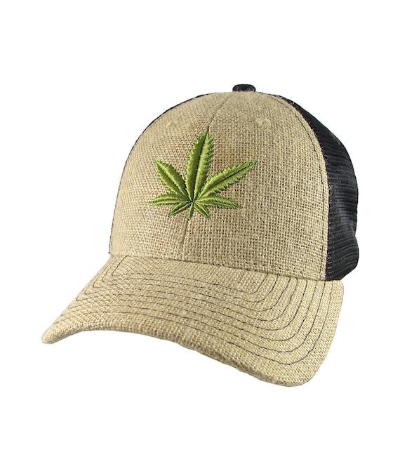 7987b6972e7 Cannabis Marijuana Leaf 3D Puff Embroidery on an Adjustable