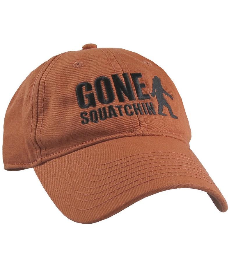654178f88f29d Gone Squatchin Humorous Sasquatch Bigfoot Silhouette Black