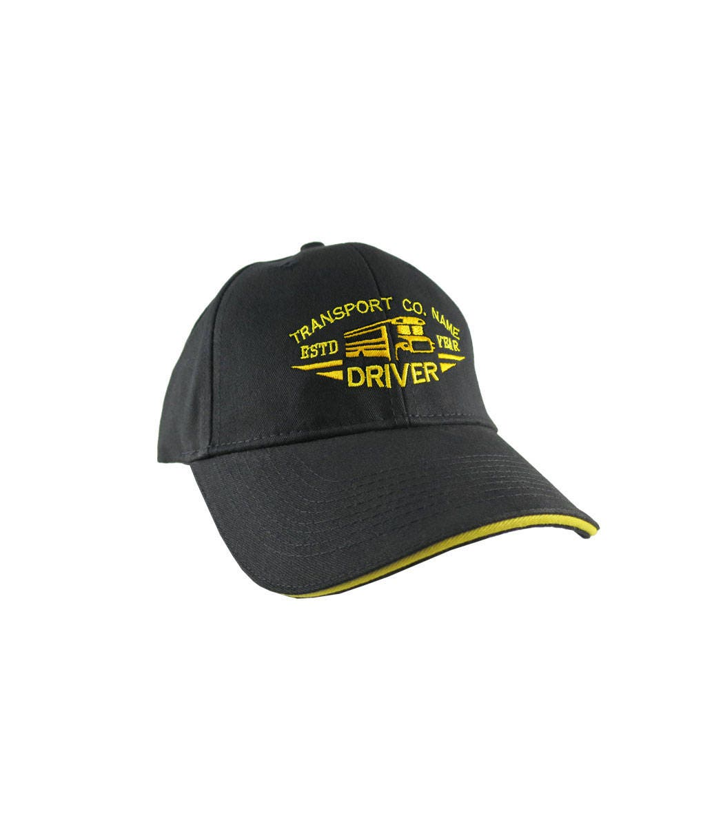 School Bus Embroidery Embroidered Adjustable Hat Baseball Cap