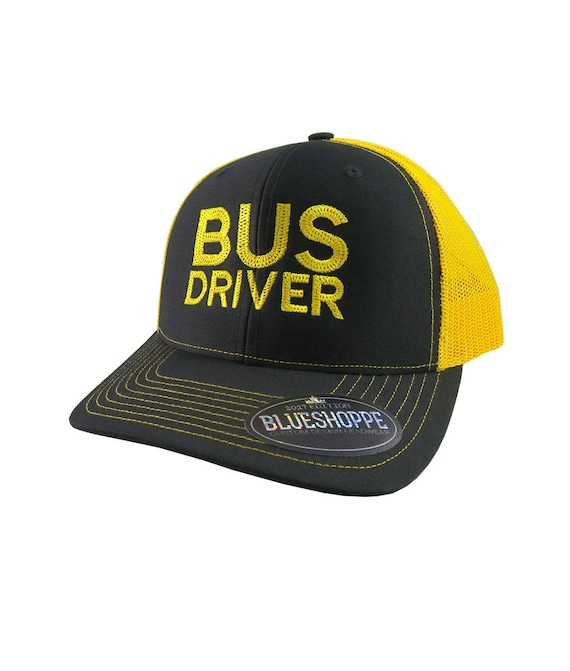 Custom Camo Mesh Trucker Hat Worlds Best School Bus Driver Embroidery One Size