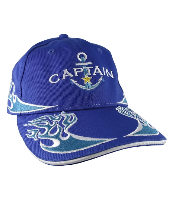 19718b0ddf4ed Nautical Star Blue Anchor Power Boat Captain Embroidery on an