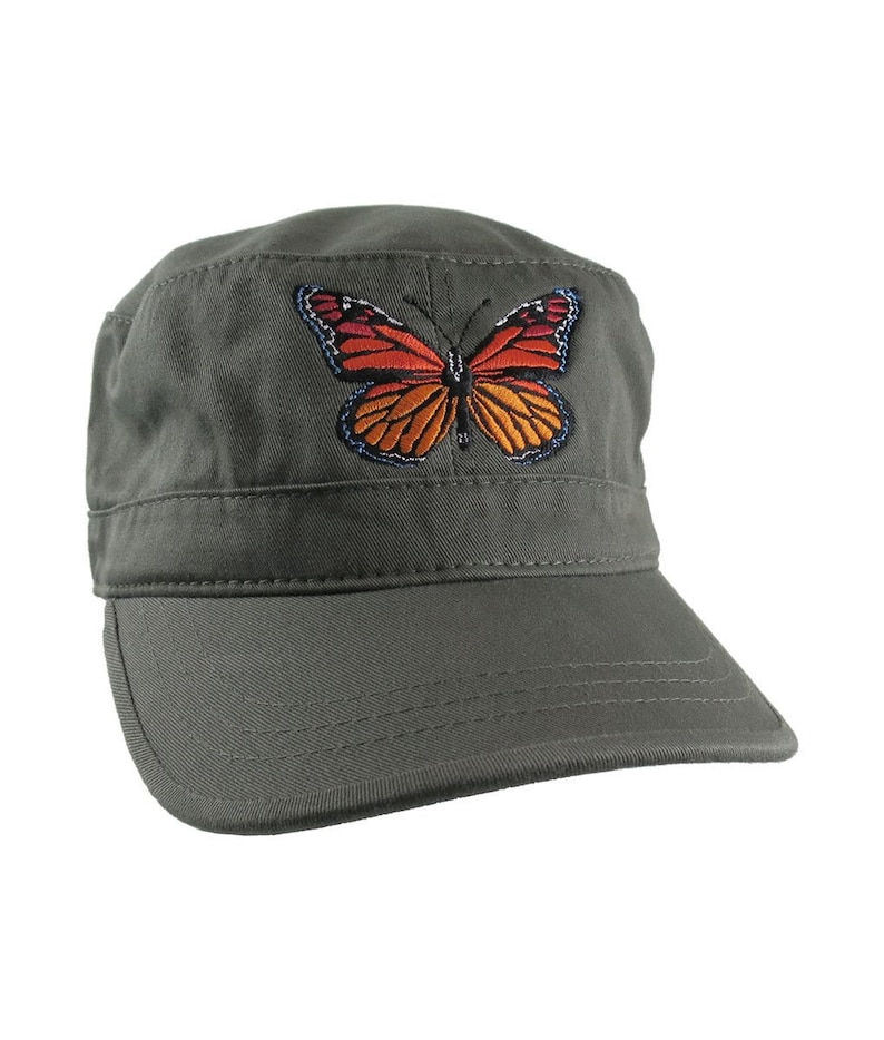 fd811151d34ea9 Custom Colorful Monarch Butterfly Embroidery on an Adjustable | Etsy