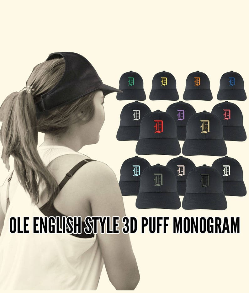 Your Custom Personalized 3D Puff Ole English Monogram  af482ccf4bd6