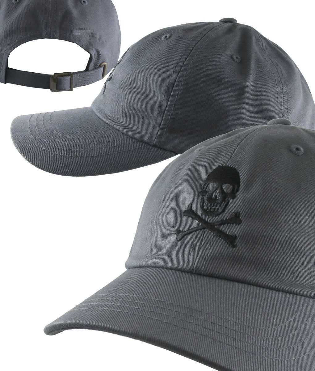 cd1356ea Custom Skull Crossbones Pirate Your Color Choice Embroidery on Your  Selection of 21 Adjustable Unstructured Baseball Caps Dad Hat Style