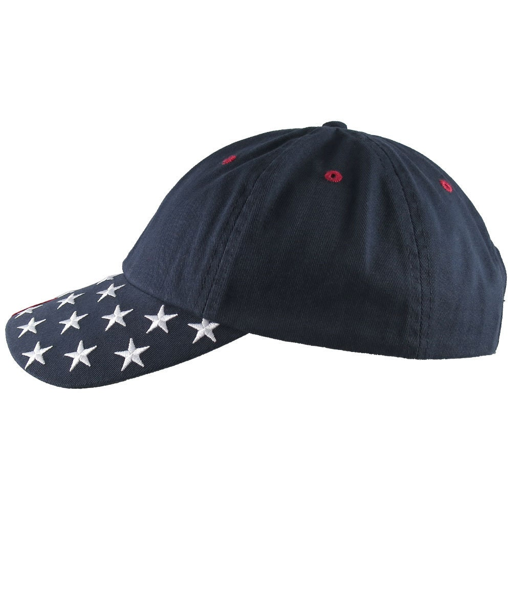 c62efc6b NYSE Hat Dow 30000 Stock Broker Custom Embroidery Adjustable Navy Blue  Unstructured Stars and Stripes Baseball Cap + Personalization Options